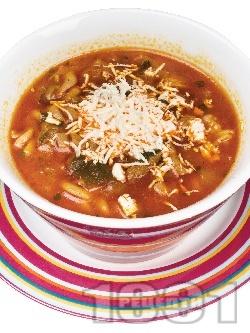 Пуста - супа с говеждо месо и чушки - снимка на рецептата